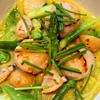 春野菜とアサリのナージュ、帆立貝のポワレ レモン風味